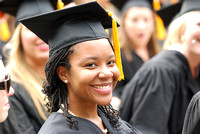 Black Graduates in Crowd